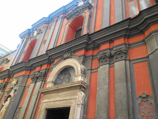 Facciata della chiesa di Sant'Angelo a Nilo, Napoli