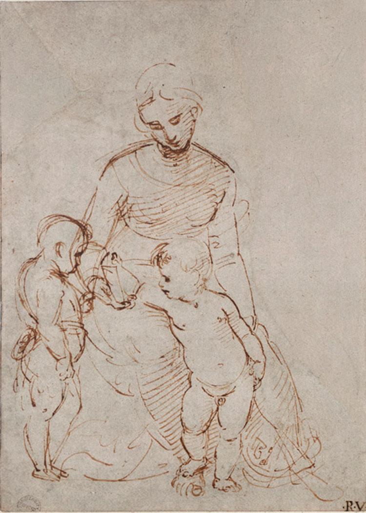 Raffaello, Studio per la Madonna del Cardellino
