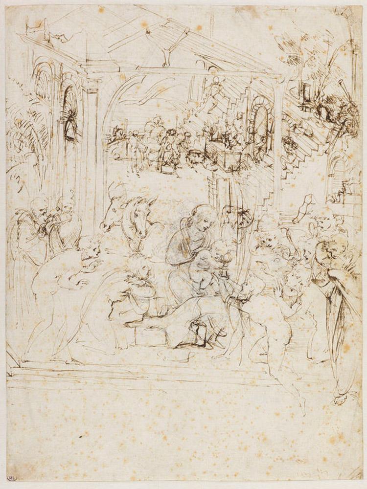 Leonardo da Vinci, Studio per l'Adorazione dei Magi