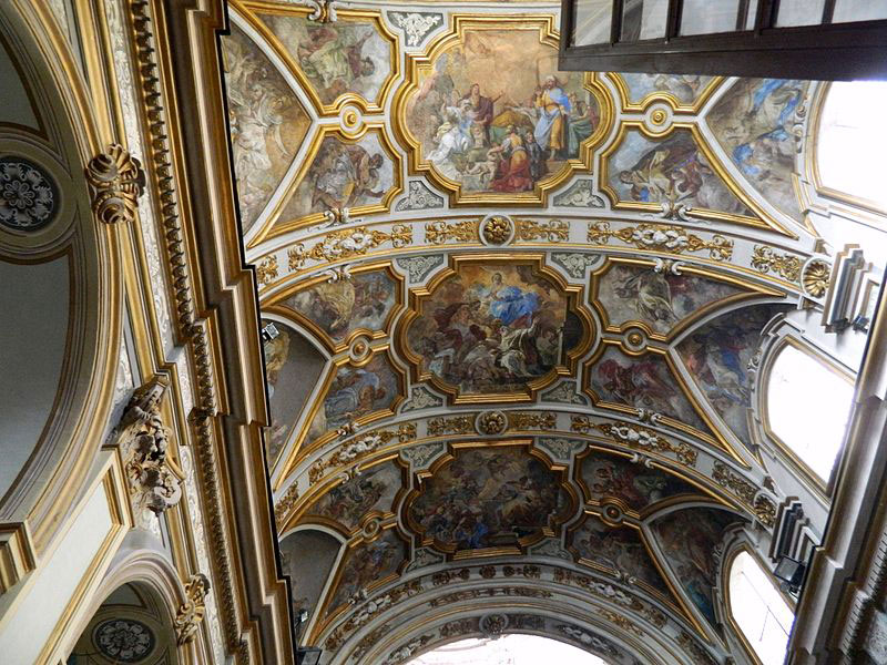 Napoli: rischia di crollare il soffitto della chiesa di San Nicola alla Carità con gli affreschi del Solimena