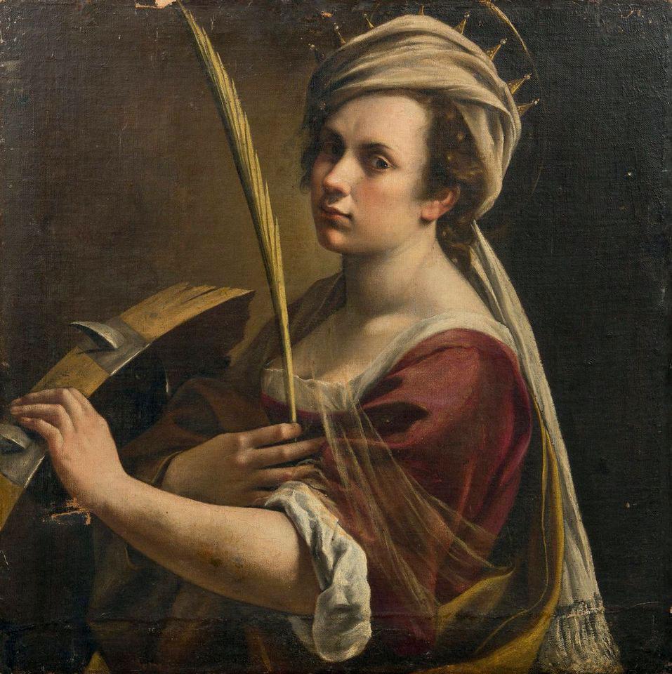 L'Autoritratto di Artemisia Gentileschi come santa Caterina d'Alessandria è entrato nelle collezioni della londinese National Gallery