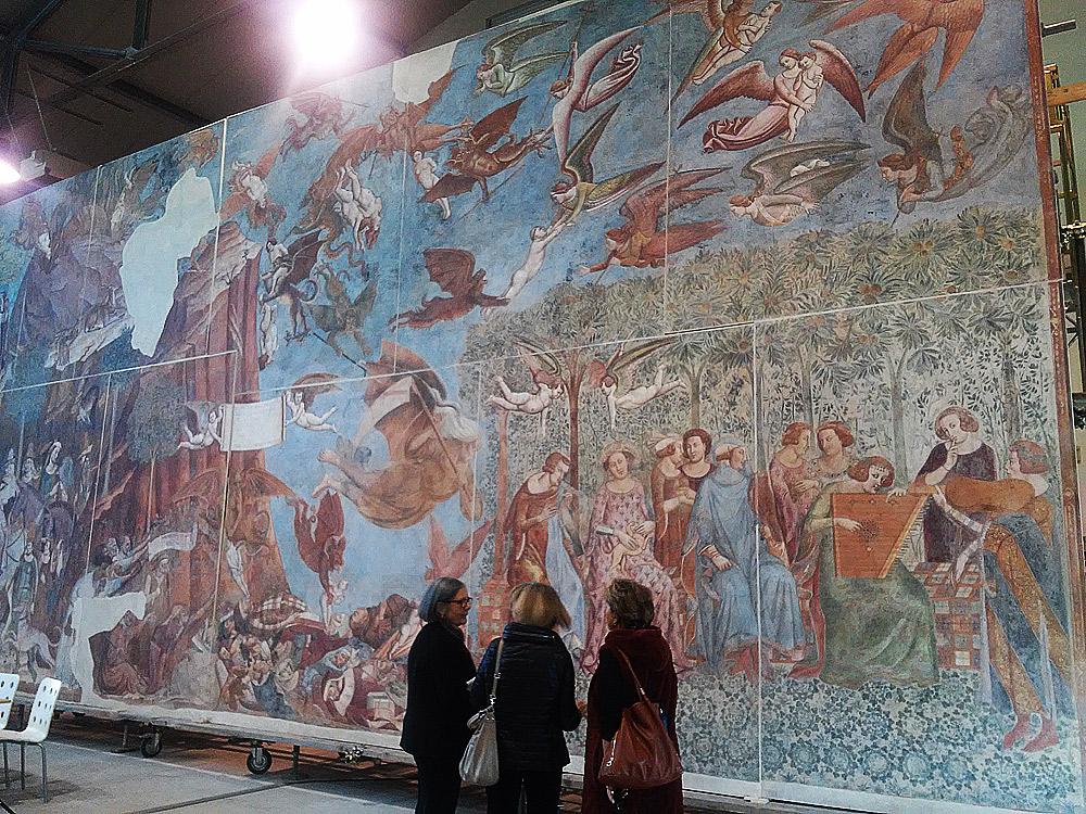 Pisa, lo spettacolo del Trionfo della Morte di Buffalmacco. Terminato il restauro dell'ultima ferita della seconda guerra mondiale