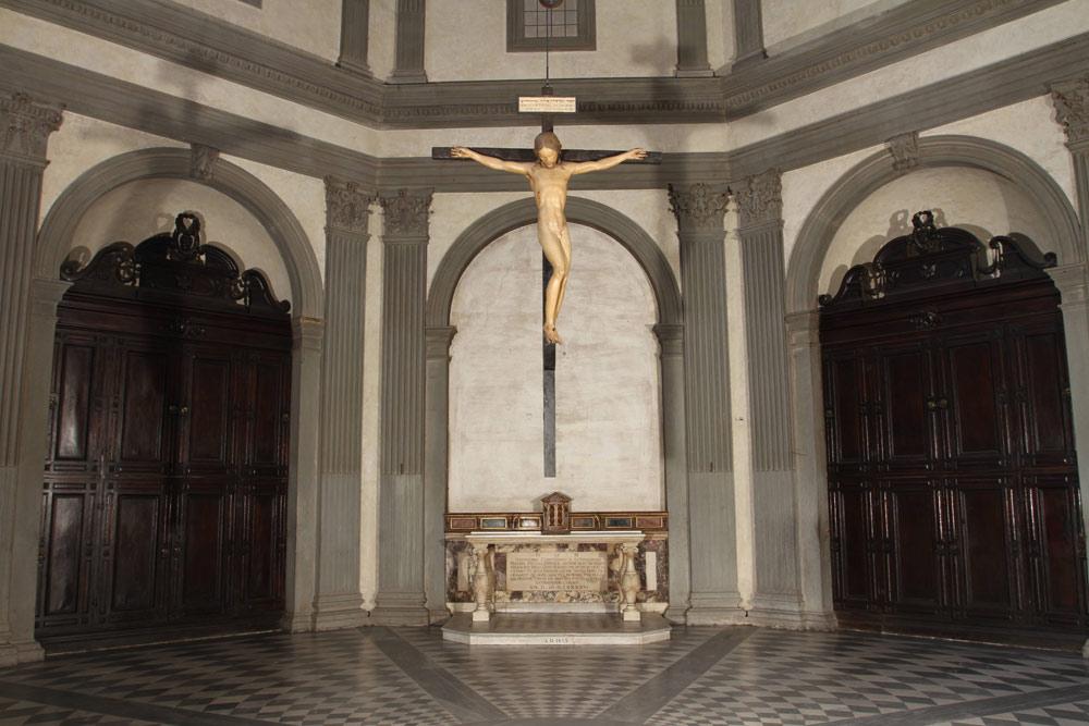 Il Crocifisso nella Sagrestia di Santo Spirito