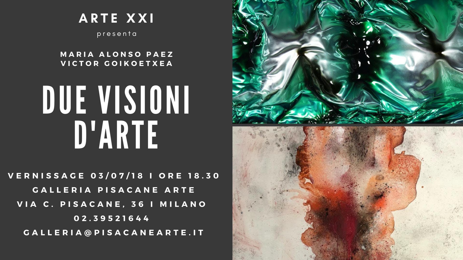 Una doppia personale di Maria Alonso Paez e Victor Goikoetxea a Milano
