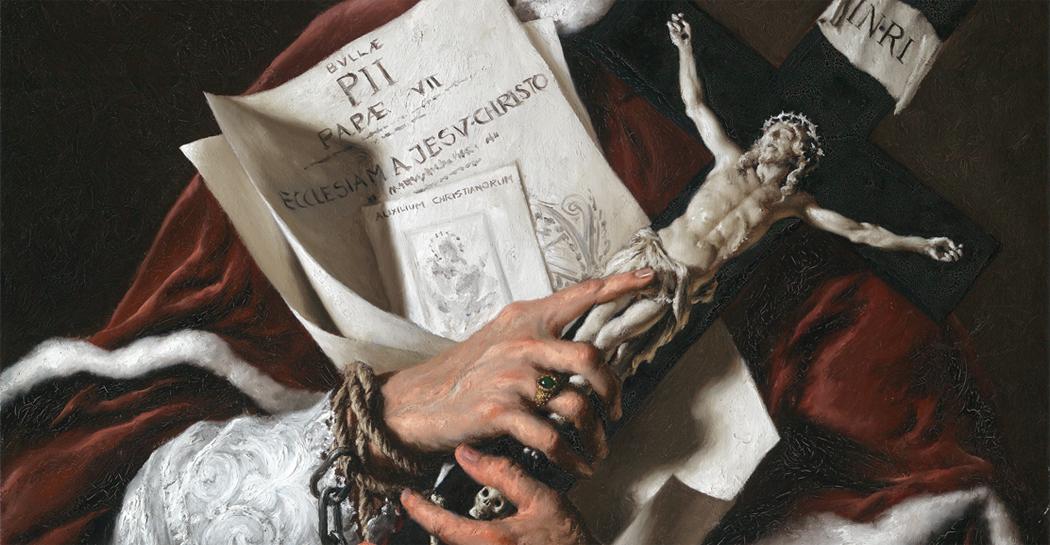 Due dipinti di Giovanni Gasparro che raffigurano i papi dell'età napoleonica in mostra a Roma