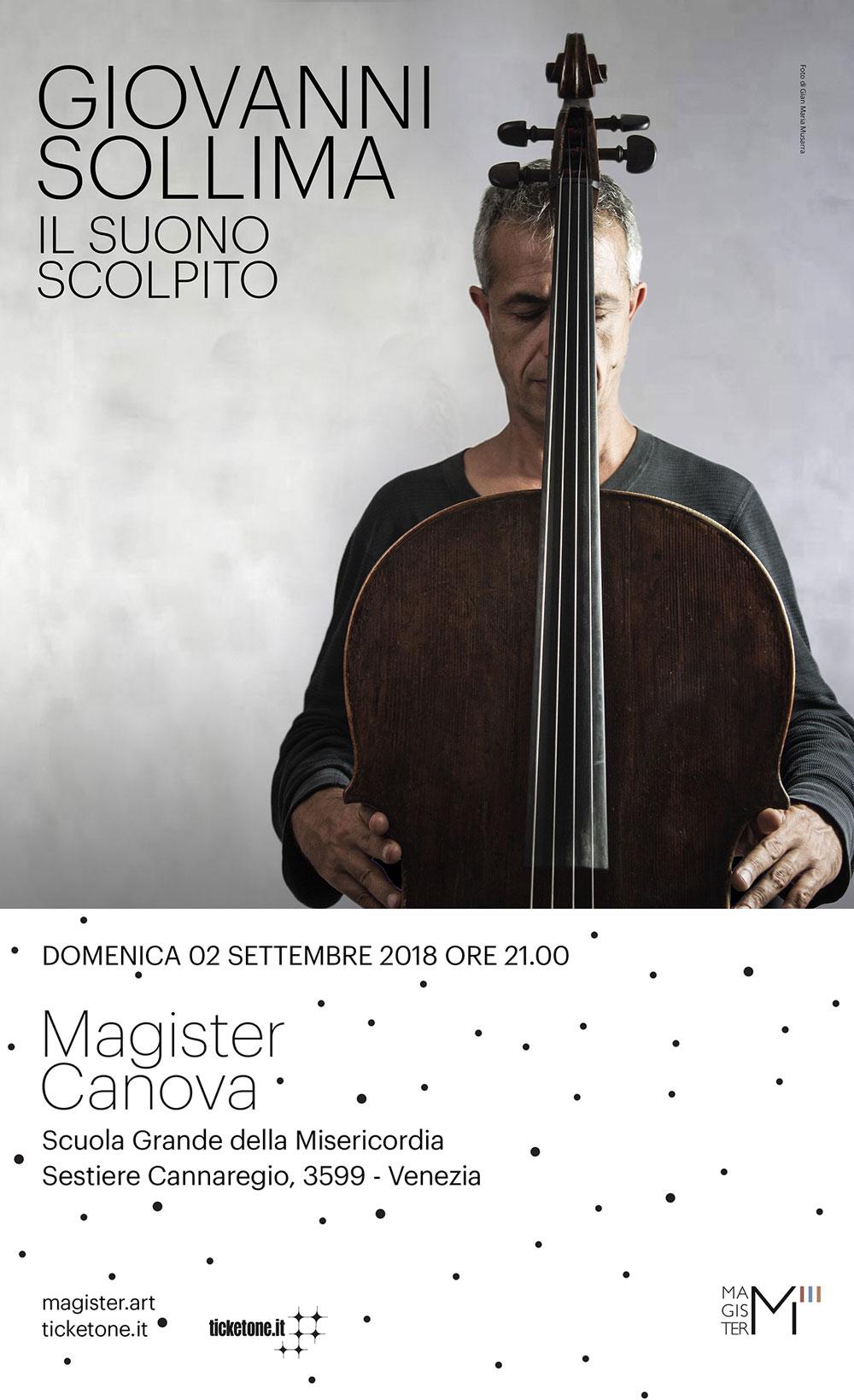 Esclusivo concerto di Giovanni Sollima in occasione di Magister Canova