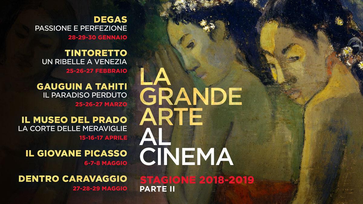 """Degas, Tintoretto, Gauguin e Caravaggio sono i protagonisti del 2019 de """"La grande arte al cinema"""""""