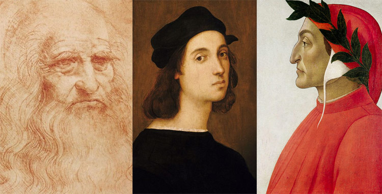 15 milioni di euro per celebrare Leonardo, Raffaello e Dante