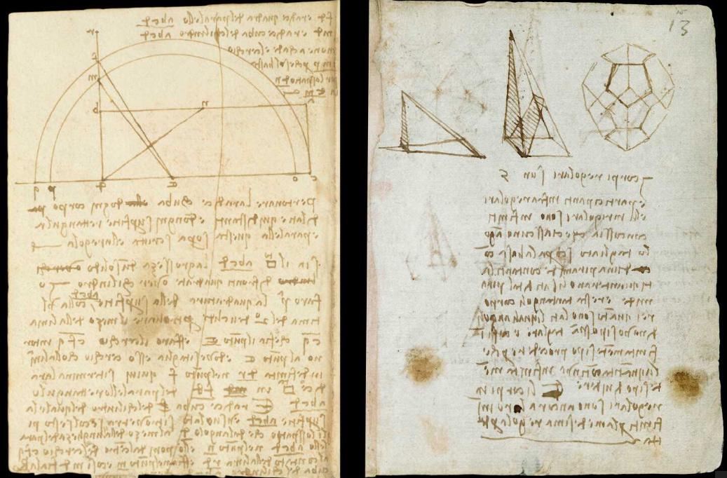 Il Victoria and Albert Museum pubblica online i taccuni di Leonardo da Vinci del Codice Forster I