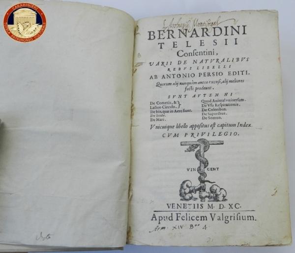 I Carabinieri ritrovano a Boston un libro del 1590 rubato a Monreale