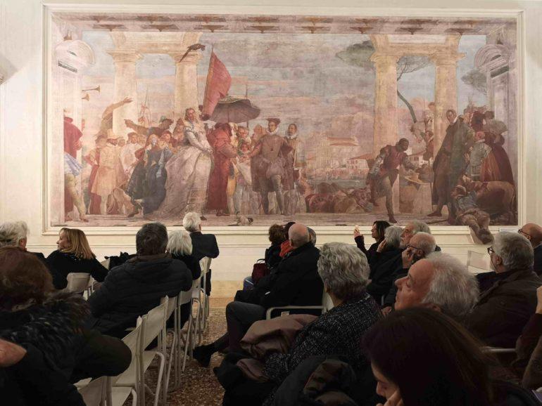 """Alla Villa dei Leoni di Mira inaugurati gli """"affreschi digitali"""" di Giambattista Tiepolo"""