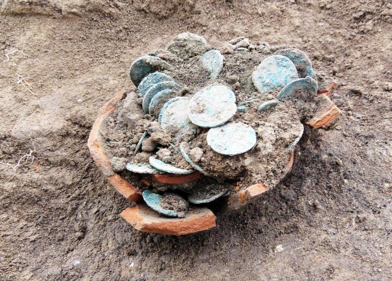 Cremona, scoperto un tesoro di antiche monete romane