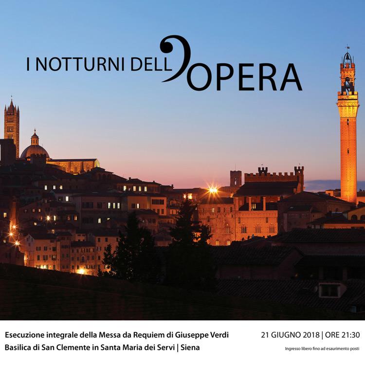 Siena, il 21 giugno I Notturni dell'Opera portano Giuseppe Verdi alla Basilica dei Servi