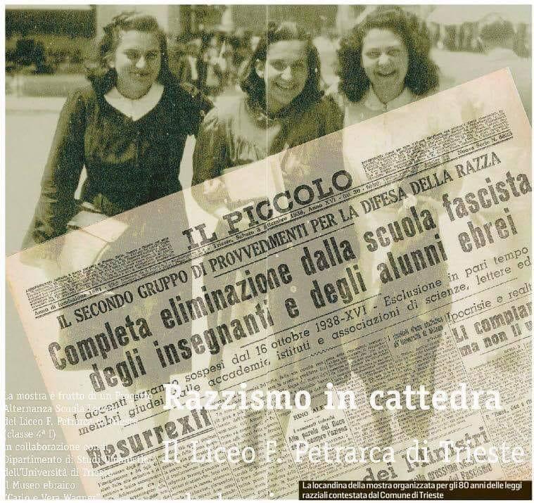 Trieste, nuovo tentativo di censura: giunta non gradisce manifesto di mostra sulle leggi razziali, polemiche