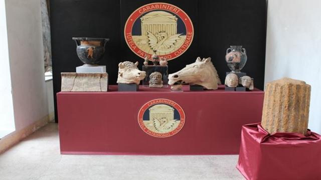Operazione dei Carabinieri, recuperati reperti dal valore di 900mila euro