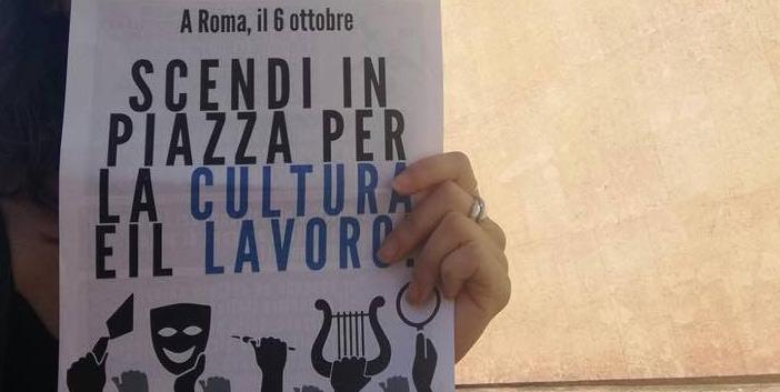 Roma, tutto pronto per la grande manifestazione per il lavoro culturale del 6 ottobre