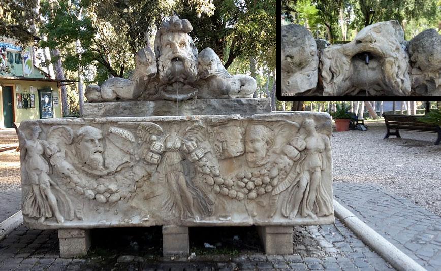 Roma, vandali decapitano la cinquecentesca Fontana del Sarcofago a Villa Borghese