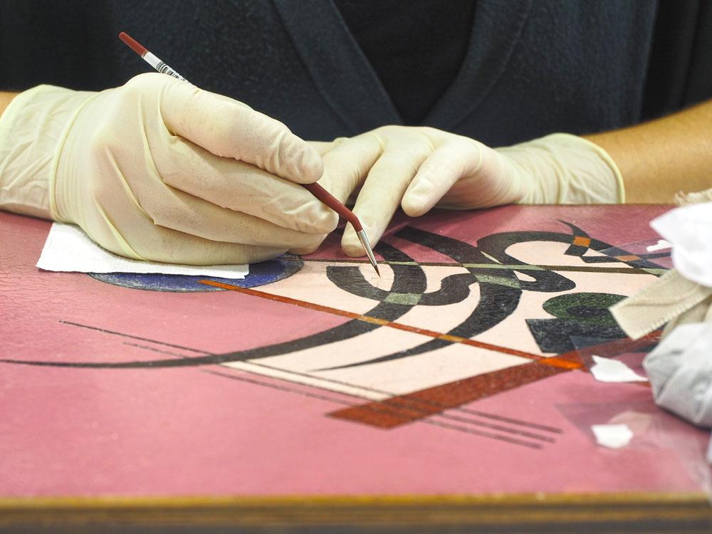 Spitz-Rund di Kandinskij in mostra, dopo il restauro, a Mondovì