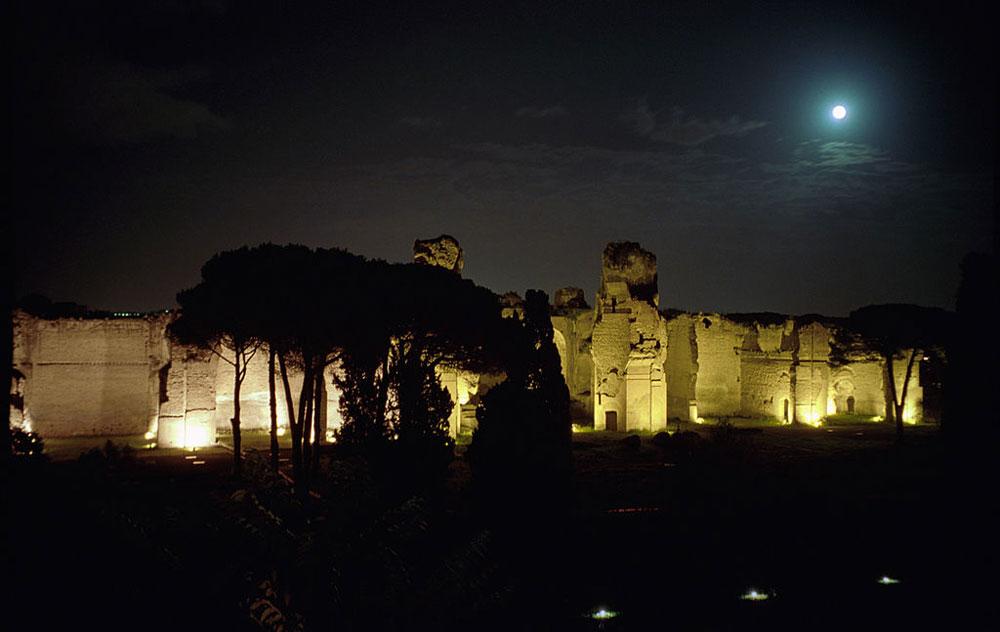 Visite notturne guidate in programma alle Terme di Caracalla