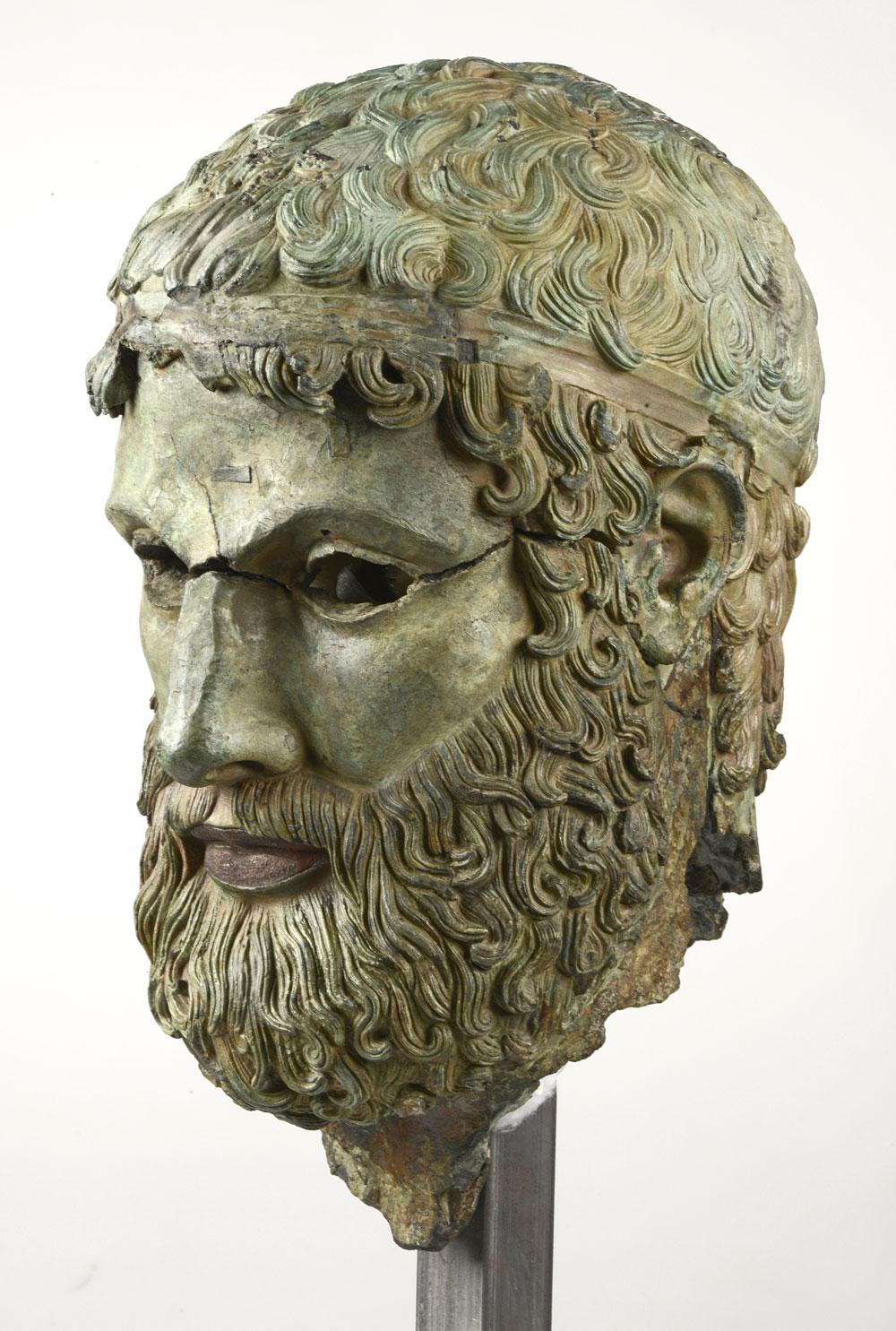 Torna al Museo Archeologico Nazionale di Reggio Calabria la Testa di Porticello