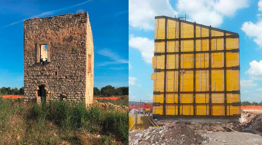 Bari, torre cinquecentesca spostata per costruire la strada: primo caso in Italia