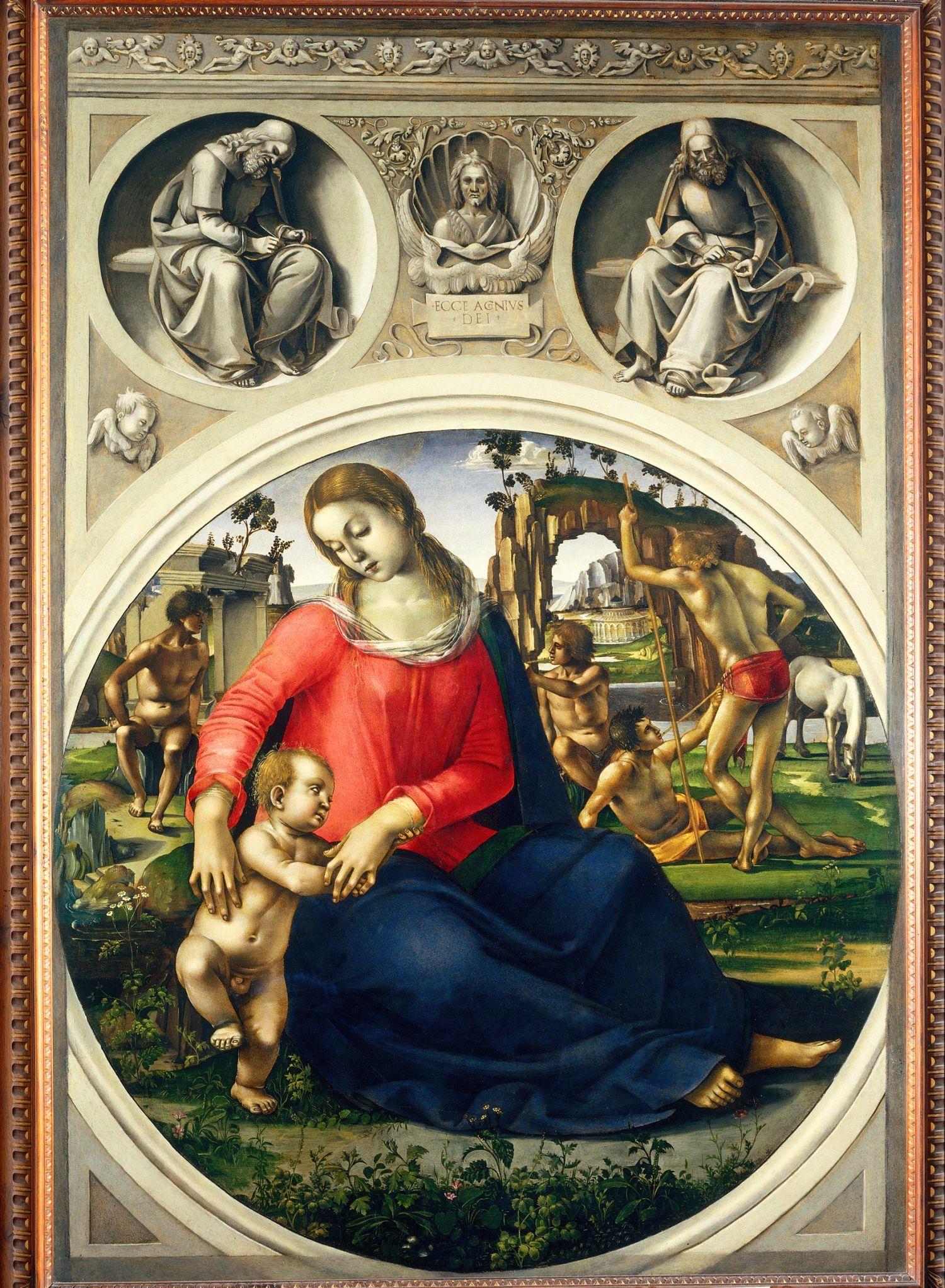 Luca Signorelli, Madonna dell'umiltà (1490 circa; tempera su tavola, 170 x 117,5 cm; Firenze, Galleria degli Uffizi)