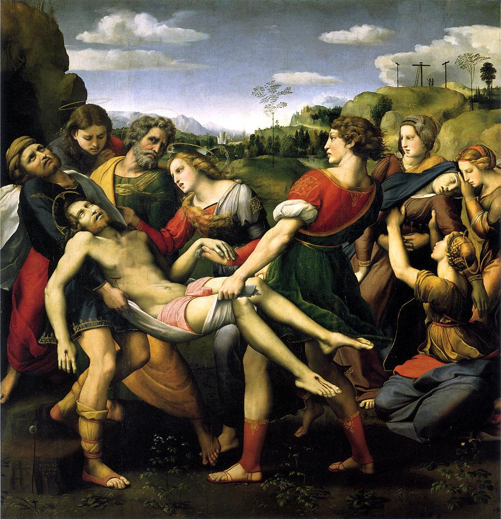 Raffaello, Deposizione Borghese (1507; olio su tavola, 174,5 x 178,5; Roma, Galleria Borghese)