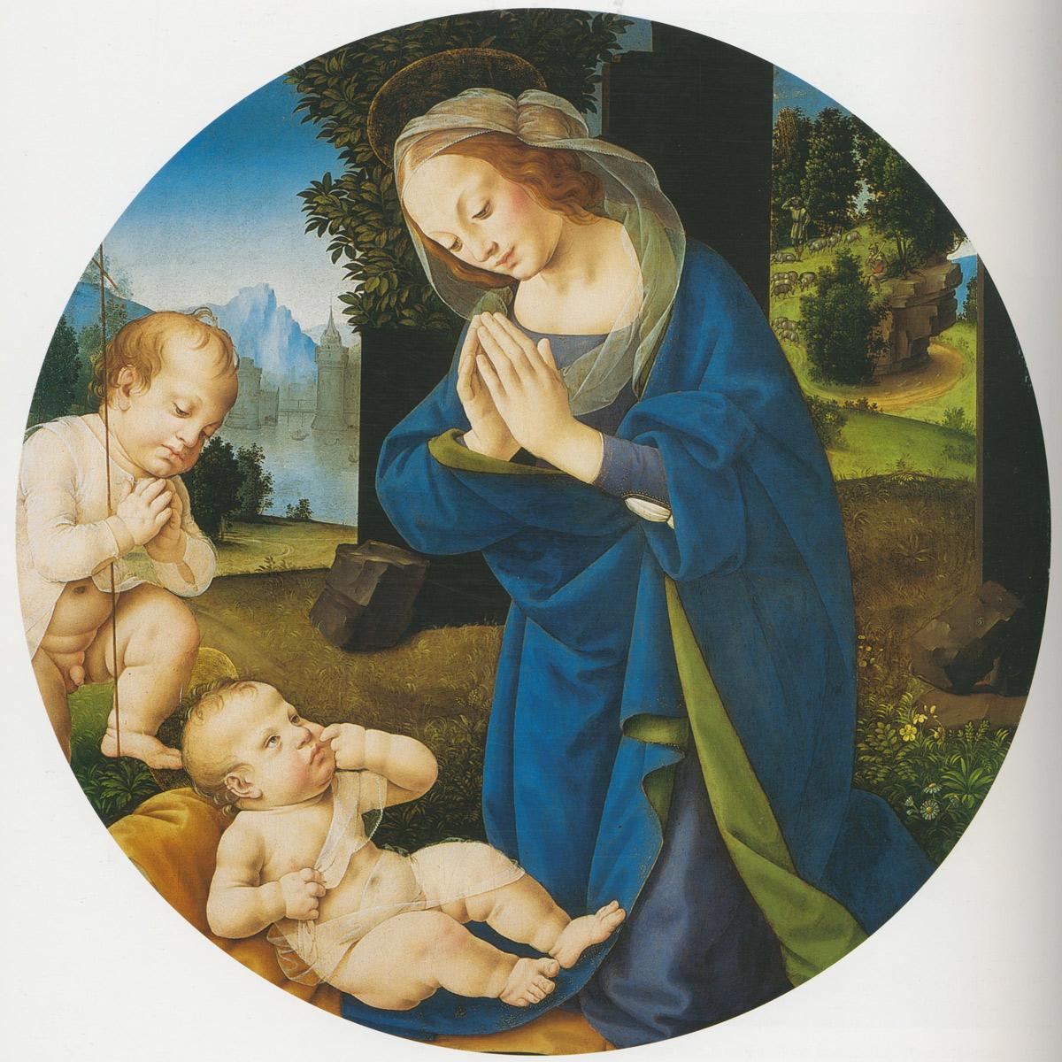 Lorenzo di Credi, Adorazione del Bambino, collezione privata