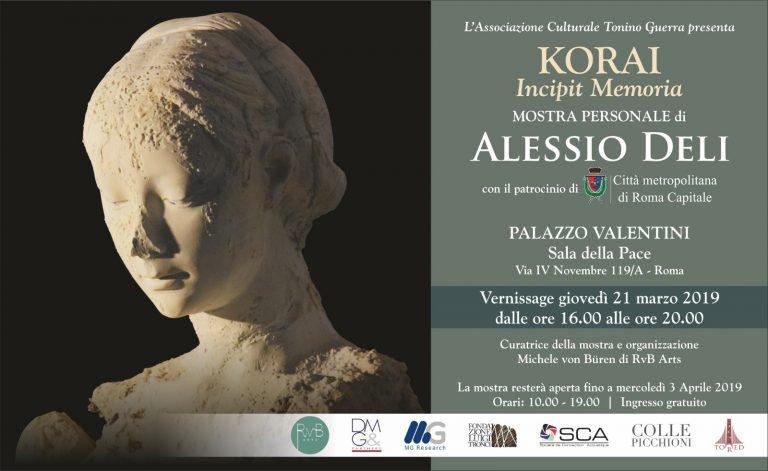 Roma, a Palazzo Valentini la personale di Alessio Deli