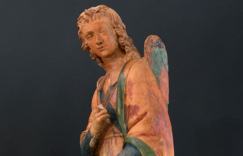 È di Leonardo questa scultura in terracotta? Pedretti pensava di sì. L'opera in mostra a Vinci
