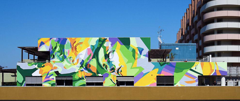 Ecco il Tondo Doni in versione street art. Un'opera del collettivo Orticanoodles