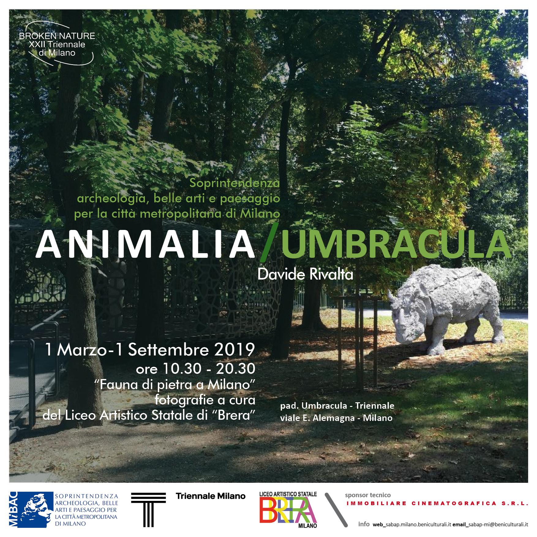 """Le opere di Davide Rivalta alla XXII Triennale con la mostra """"Animalia/Umbracula"""""""