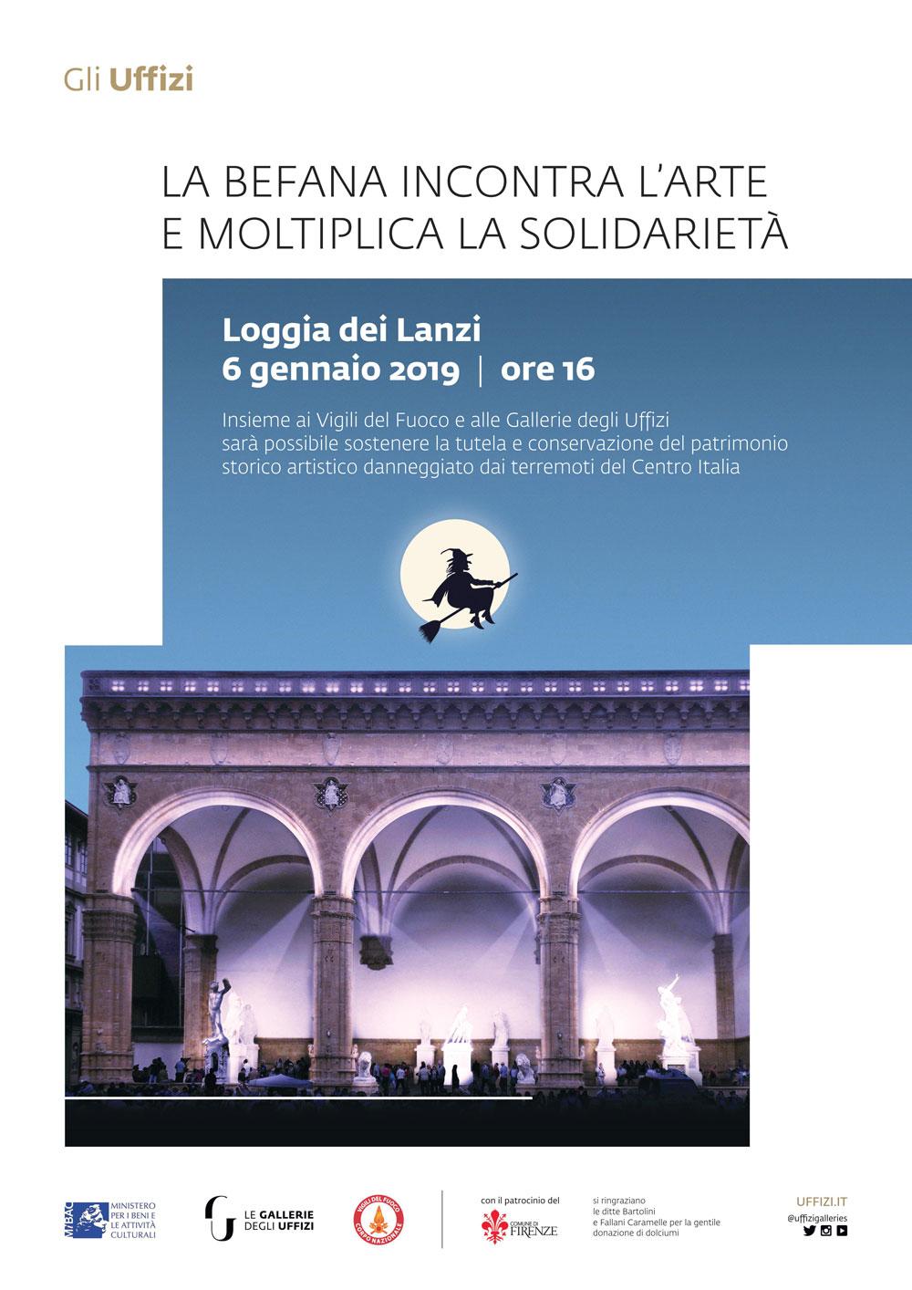Una Befana acrobatica e di solidarietà è attesa alla Loggia dei Lanzi a Firenze