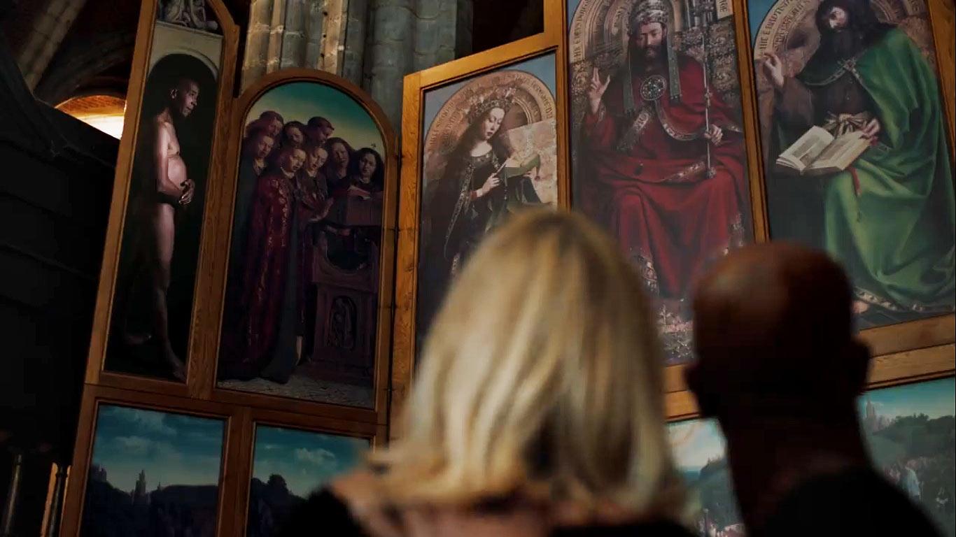 """""""Nelle Fiandre l'amore si celebra in tutte le forme e i colori"""": la bellissima campagna per il restauro del Polittico di Van Eyck"""
