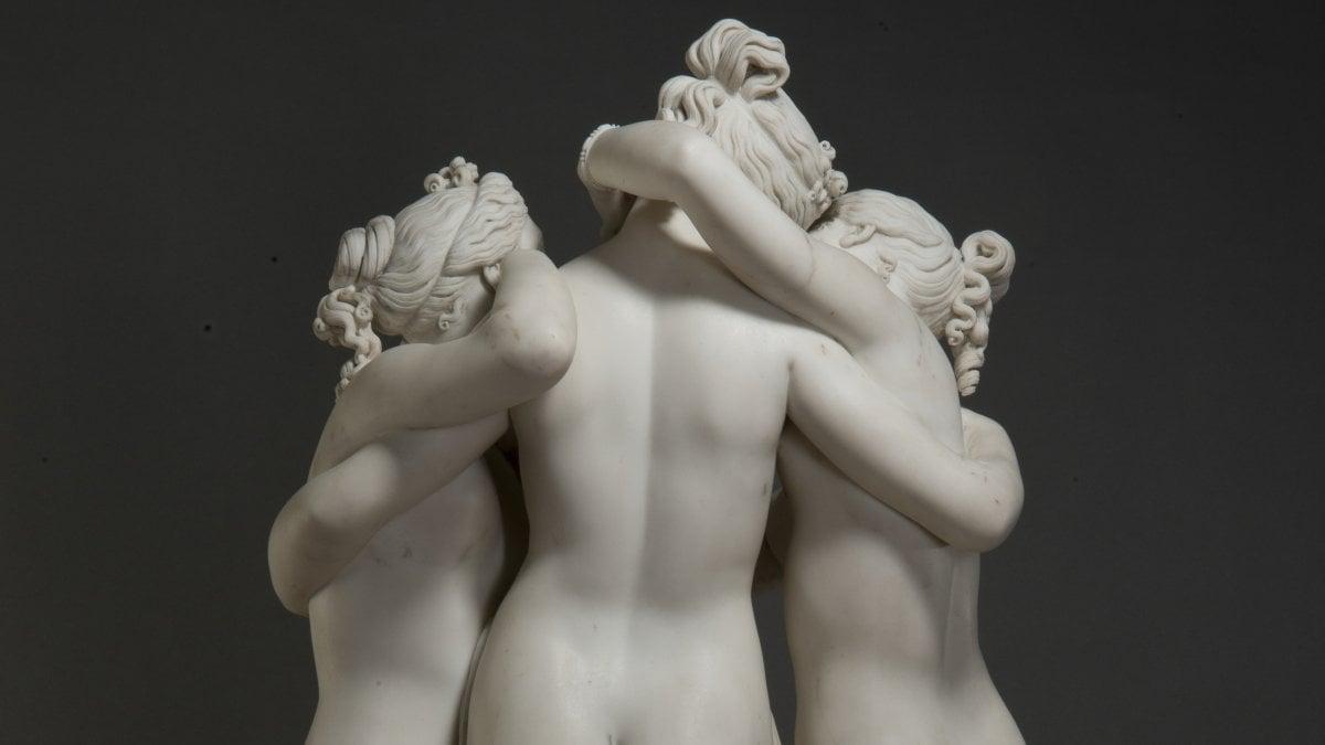 Antonio Canova in rapporto all'arte antica, una grande mostra porta a Napoli le Tre Grazie e altri capolavori