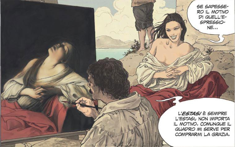 Caravaggio - La Grazia: nelle fumetterie e nelle librerie il secondo volume dell'opera a fumetti di Milo Manara