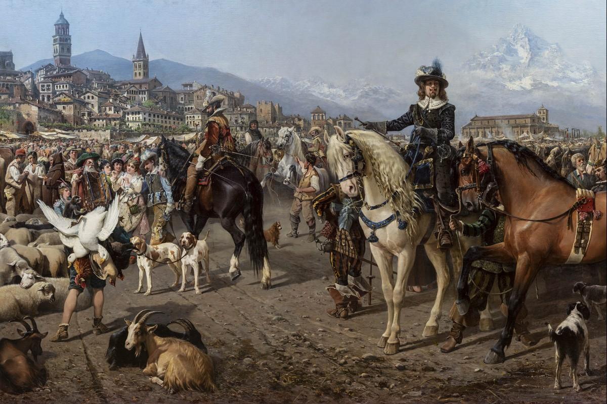 """Alla GAM di Torino si riscopre l'enorme """"Fiera di Saluzzo"""" dipinta a fine Ottocento da Carlo Pittara"""