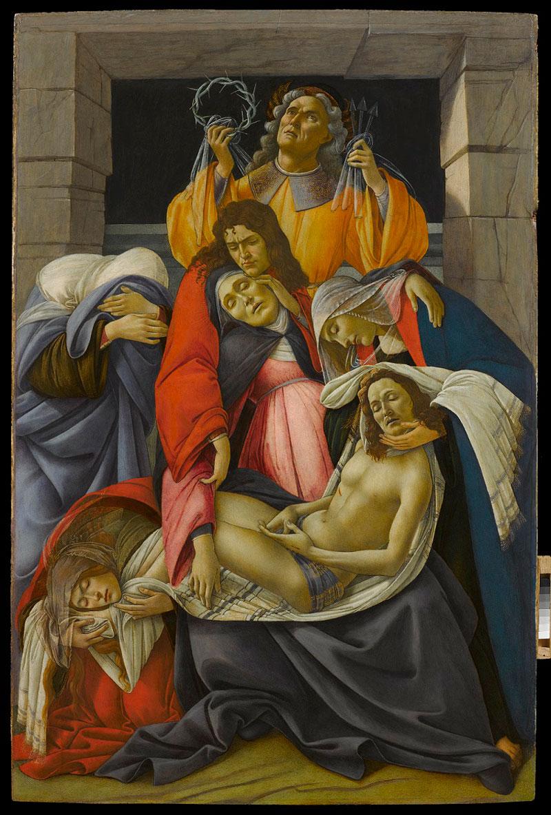 Il Compianto sul Cristo morto di Botticelli è l'ospite illustre delle Gallerie d'Italia di Napoli