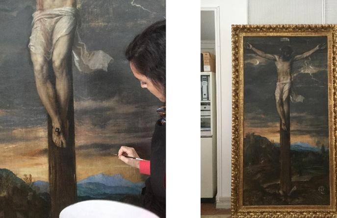 Madrid, torna visibile il Crocifisso di Tiziano gravemente danneggiato lo scorso anno all'Escorial