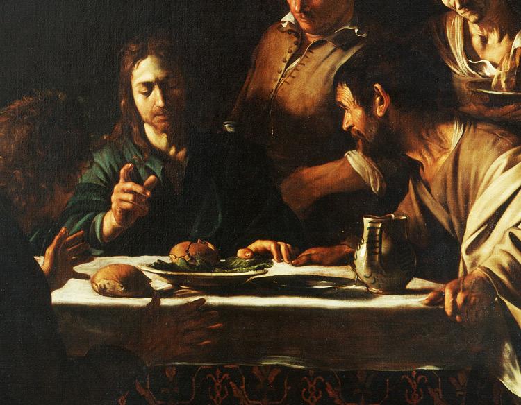 La Cena in Emmaus di Caravaggio, un capolavoro simbolo della Pinacoteca di Brera