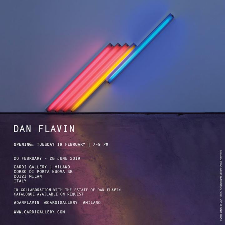 Milano, una mostra dedicata a Dan Flavin alla Galleria Cardi