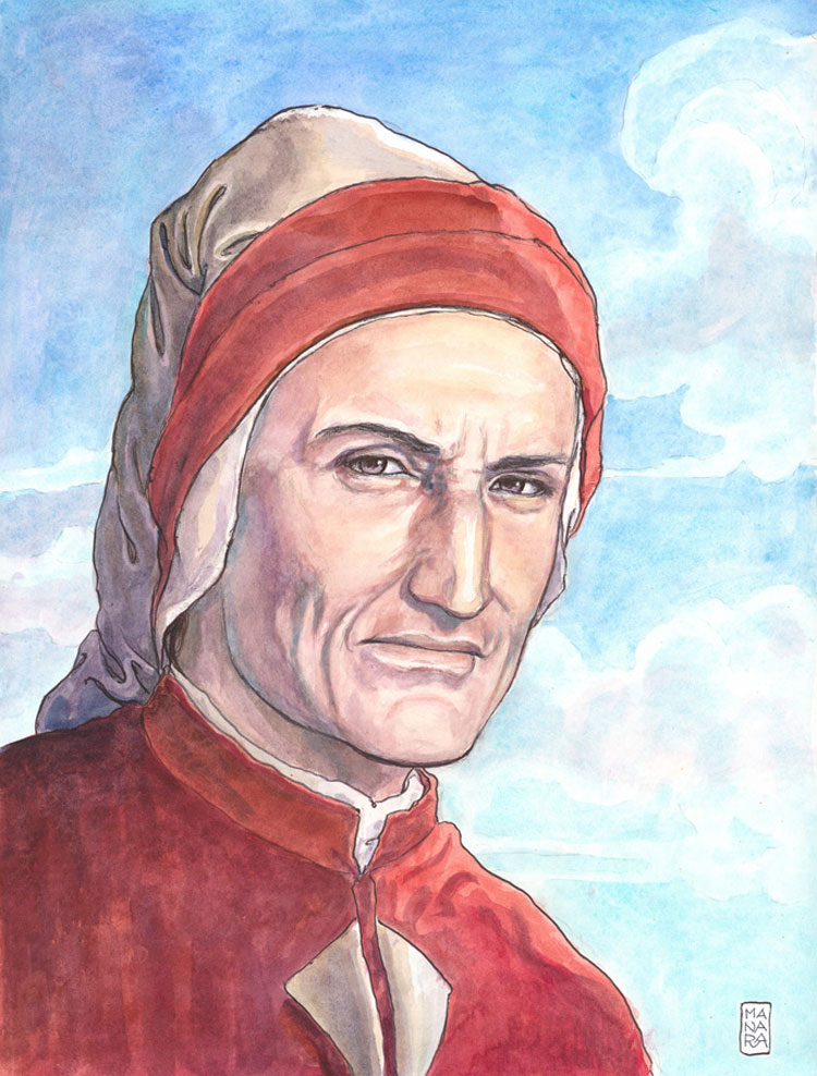 Com'era il volto di Dante? A Ravenna trenta artisti ne danno la propria versione. Ospite d'eccezione Milo Manara