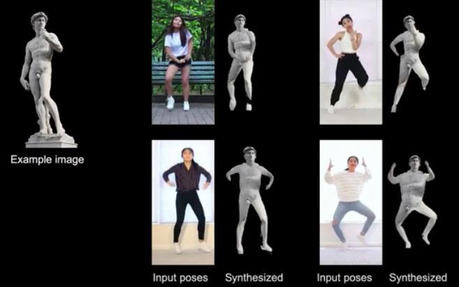 Ricercatori USA fanno ballare il David di Michelangelo al ritmo di dance per studiare la creazione di video fotorealistici