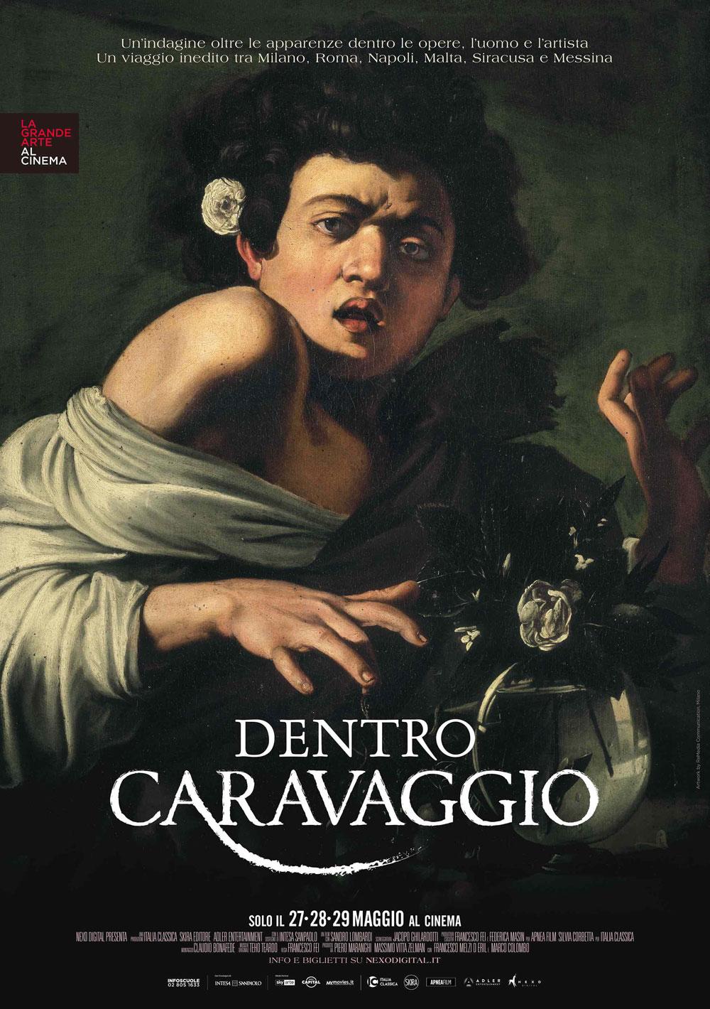 Dentro Caravaggio, il nuovo docu-film de La Grande Arte al Cinema. Solo il 27, 28 e 29 maggio 2019