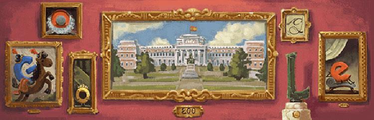 I duecento anni del Prado. Anche il doodle di Google festeggia il bicentenario del museo