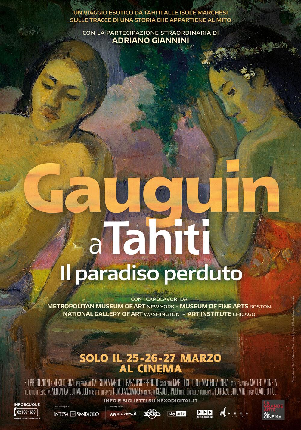 La Grande Arte al Cinema porterà nelle sale cinematografiche Gauguin