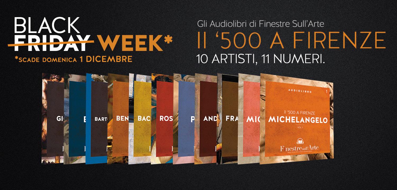 Il Black Friday di Finestre sull'Arte: acquista i nostri audiolibri a metà prezzo