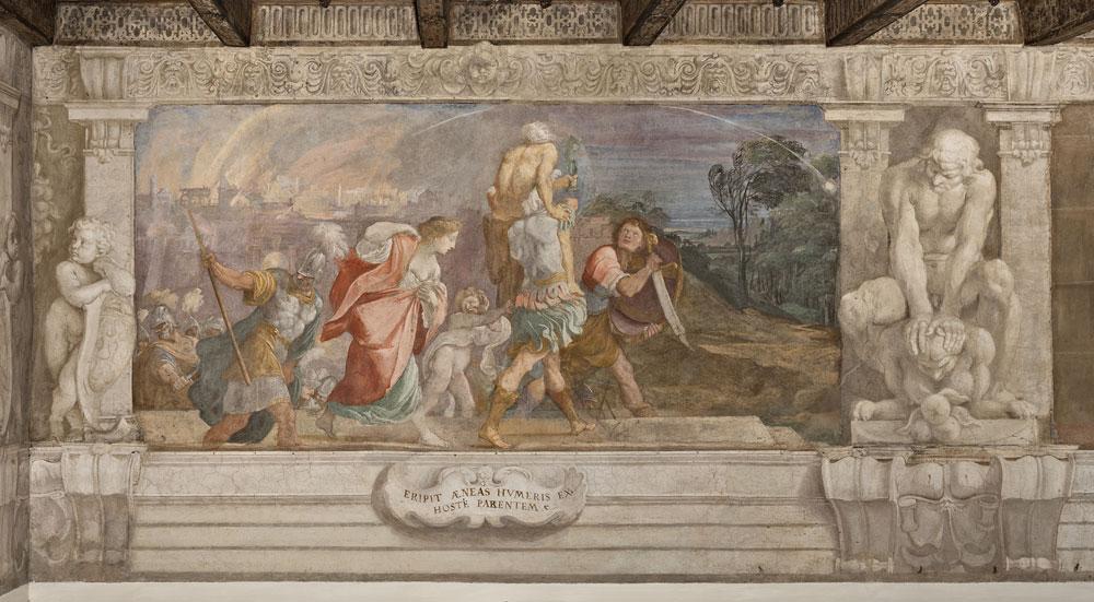 Gli affreschi dei Carracci di Palazzo Fava in dialogo con opere moderne e contemporanee.