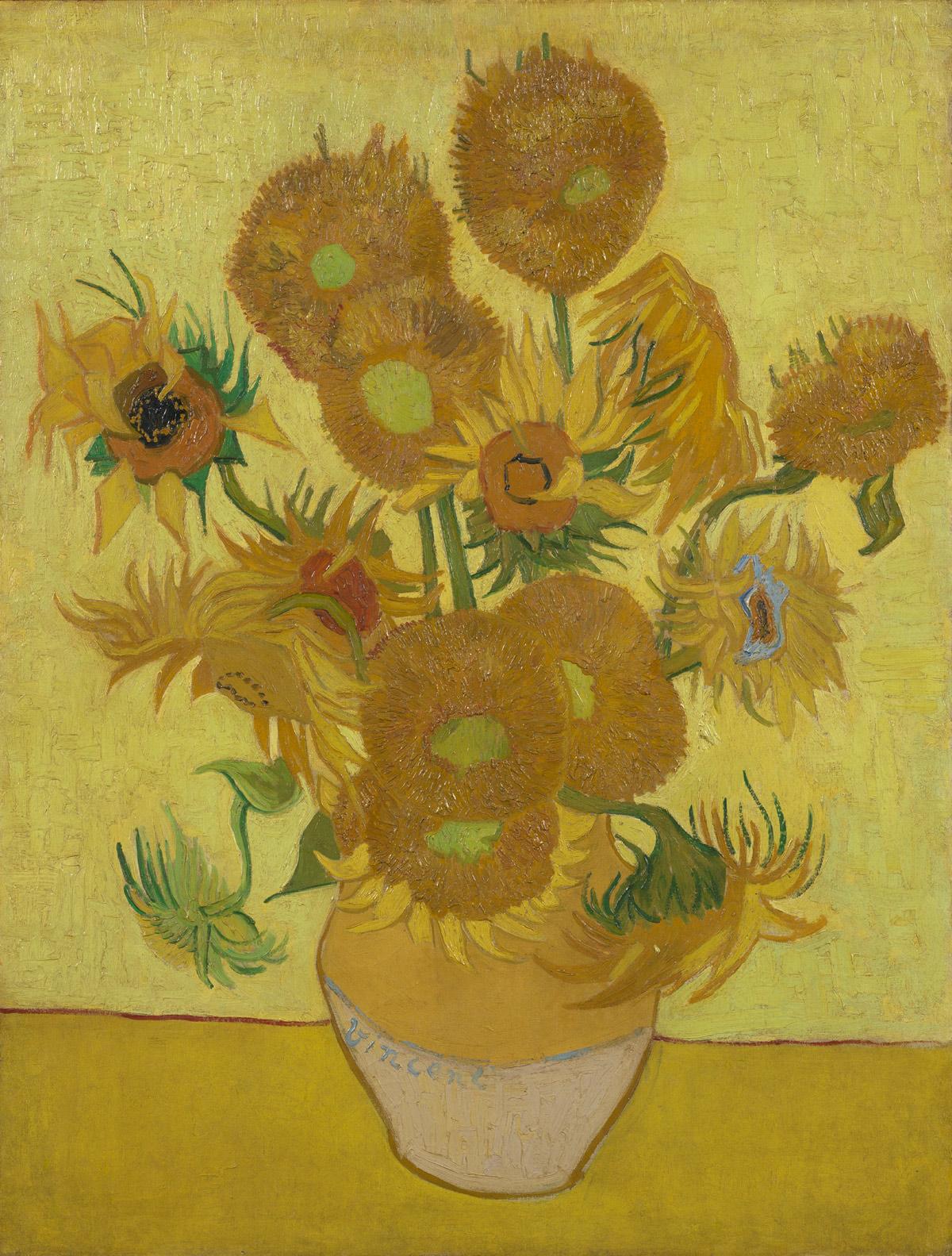 Nuovi studi sui Girasoli di van Gogh (e c'è anche un po' di Italia): sono un'opera fragilissima