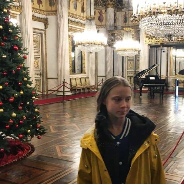 Greta Thunberg visita i Musei Reali di Torino